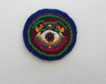 Peering Eye Badge (Patch, Pin, Brooch, or Magnet)