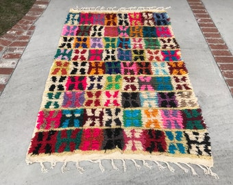 "FREE SHIPPING!!! ""SALLY"" Boho Chic Moroccan Azilal Rug in Multi Colors (Los Angeles)"