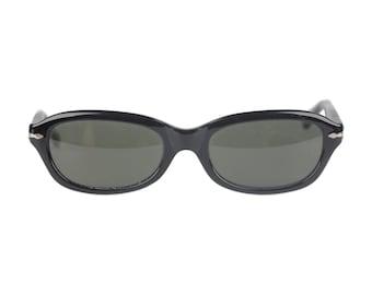 Authentic PERSOL RATTI Vintage Black Acetate Sunglasses PP503 54mm Nos