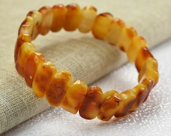 Amber bracelet, baltic amber, Men and Women Amber Bracelet. Adult Baltic Amber Bracelet, Men's Amber Bracelet, Stretch Bracelet