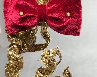 New velvet fabric bow