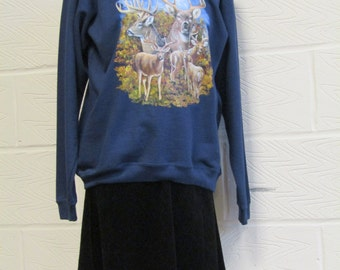 Vintage Deer Sweatshirt/ Sweater - Fruit of the Loom