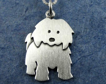 Larger Coton de Tulear necklace / pendant