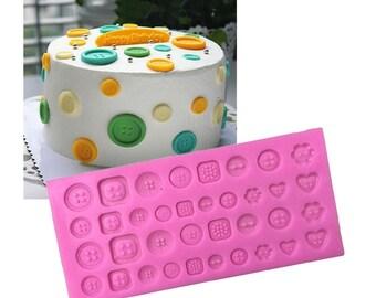 Various Button Mold,Button silicone mold