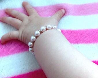 baby jewelry baby bracelet twin bracelets personalized gift personalized bracelet pearl bracelets baby name bracelets personalized jewelry