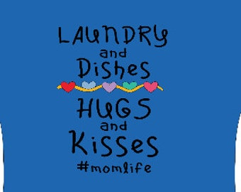 Laundry and  Dishes  Hugs and Kisses