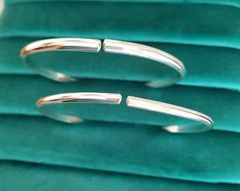 Upper Arm cuff bracelet sterling silver