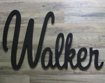 "SPECIAL OFFER! Wooden Name  12"" 15"" or 18"" Capital Letter  Unpainted or Painted Connected Wood Name Boys and Girls Name Wall Letters"