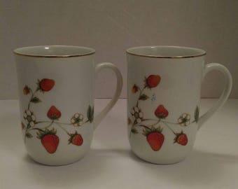 Otagiri Strawberry Mugs