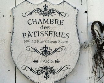 French Pastries - House of Pastries - Paris Signs - 20 x 16