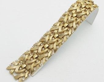 Vintage Trifari Armband Golden mit Straßsteinen