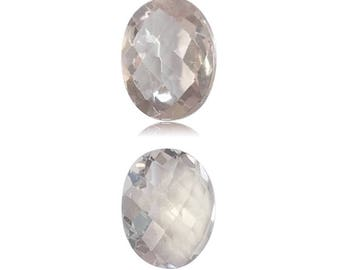 2.00 Cts of 9.0x7.0 mm AA Oval-Checker Cut Morganite ( 1 pc ) Loose Gemstone - 396762
