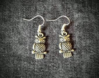 BOGO! Silver Owl Earrings