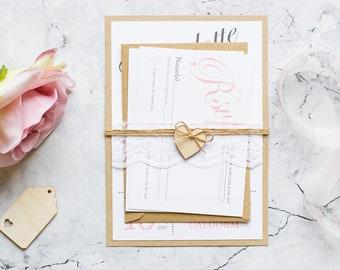 Wedding Invitation, wedding invites, wedding invitation set, Rustic wedding Invitation