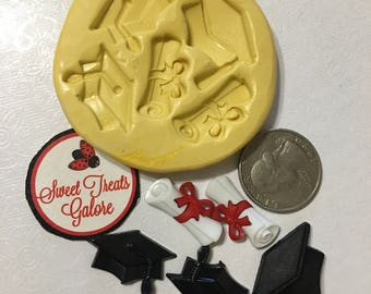 Graduation cap and diploma silicon mold