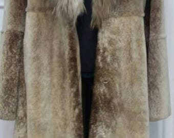 New in!!!Natural Real Beautiful Iceberg color Noutria Long Fur Coat!