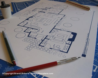 I Love Lucy - Westport, Conn. TV Show Floor Plan Poster - BluePrint for Westport Home of Lucy and Ricky Ricardo - Gift for her