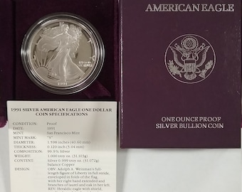 American Eagle Proof 1991 S Lot SE