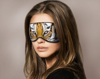 Tiger Sleep Mask, Eye mask, Sleeping mask, Kitty mask, Gift for her, Eye pillow, Cat mask, Animal mask, Sleepwear, Travel gift, Cool mask