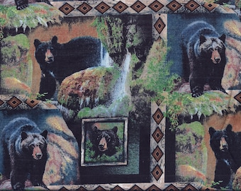 Bears Woods Rustic Valance Curtain