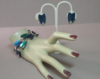 Vintage Listner Bracelet & Earring Set