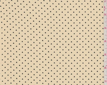 Golden Beige Mini Triangle Crepe de Chine, Fabric By The Yard