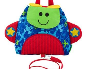 airplane backpack, preschool backpack, toddler backpack, harness backpack