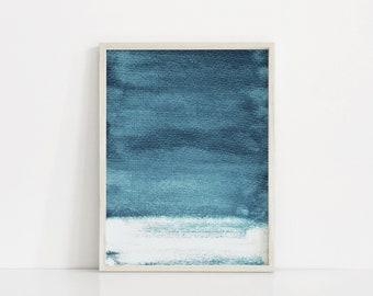 Dark Blue Art Print. Abstract Blue Print. Navy Art. Light Navy Prints. Abstract Blue Painting. Indigo Blue Wall Art. Minimal Nursery Prints