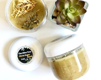 6 oz - Citrus Sugar Scrub - Sugar Scrubs - Lips Scrub - Body Scrub - Handmade - Exfoliation  All Natural - 6 oz