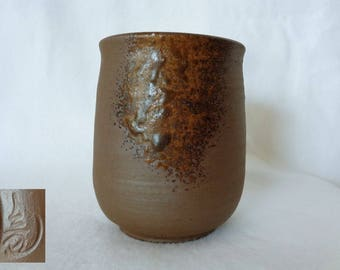 1469 : Yunomi tea cup,Bizen-yaki tea cup,Fine Japanese BIZEN YOHEN Wood Fired tea cup,Bizen Artwork,signed,Handcrafted in Japan