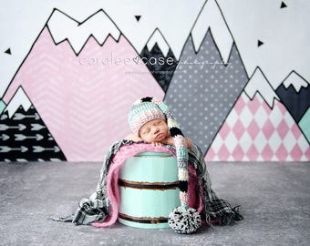 NEW ITEM! Elf Hat in Pink, Silver, Mint, & Black