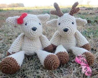 Crochet Buck and Doe Deer Stuffed toys set (amigurumi)