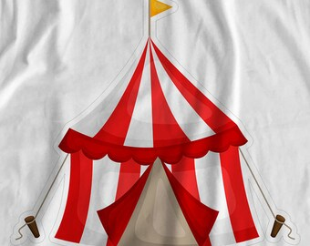 Amazing Circus - Tent - Iron On Transfer