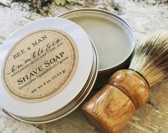 2 Shave Sets | Personalized Mens Gift | Shaving Kits | Natural Shave Soap and Shave Brush | Groomsman Gift | Gift for Him | Spring Wedding
