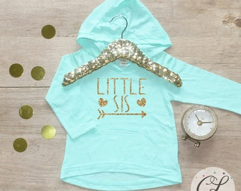 Little Sister Shirt / Baby Girl Clothes Sibling Shirt Tribal Little Sis New Baby Announcement Shirt Big Sister Announcement Big Sister 005