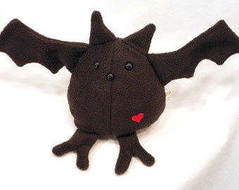 Black Bat - Whee One - Stuffed Animal - Bird Stuffed Toy - Plushie