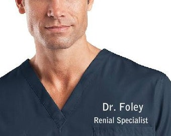 Personalized V-Neck Scrub tops and can order pants to match. Professional  Medical Scrubs