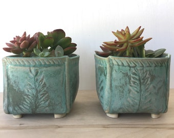 NEW: Handmade Ceramic Pottery Planter / Succulent Pot/ Folded Stoneware Box / In Stock Ready to Ship