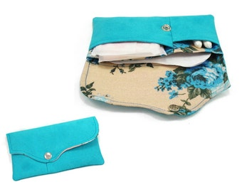Tampon case, sanitary pad holder, clutch pattern, tampon wallet, pad holder - PDF sewing pattern and instruction, instant download w-e001