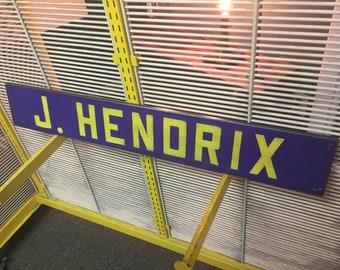 Jimi Hendrix Vintage Style Man Cave Bar Garage Sign