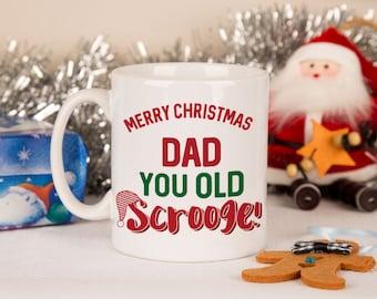 Personalised Scrooge Mug - Christmas Gifts for Scrooge, Bah Humbug Gifts, Gifts for Scrooge, Christmas Cups, Xmas Mug, Custom Made Mugs.
