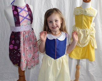 BELLE Princess Apron - Character Apron - Children's Apron - Cooking Baking - Princess Apron - Girl Boy - Princess Belle