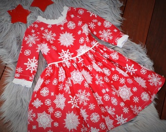 girls  Dress, Snowflake