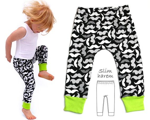 Leggings Pattern, Harem Pants Pattern, Harem Leggings Pattern, Baby ...