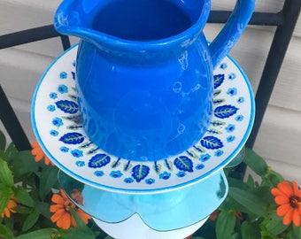 Garden Totem--Country Blue-Recycled Garden Glass-Garden Whimsy