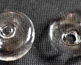 Set of 20 domes domed glass (27x17mm) to fill