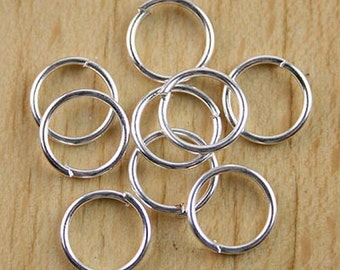 200Pcs Silver tone Findings jump Rings h0709