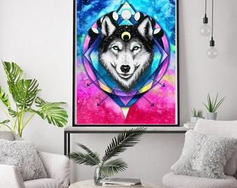 Wolf spirit- signed Art Print