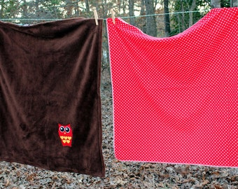 Owl Blanket Set - SALE