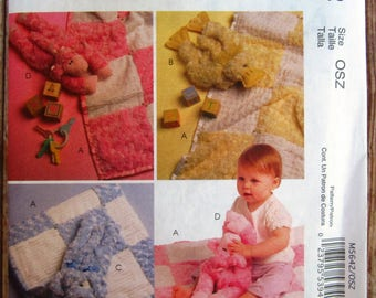 Babies Blanket, Duckling Toy, Puppy Toy, Lamb Toy McCalls Pattern M5642 UNCUT